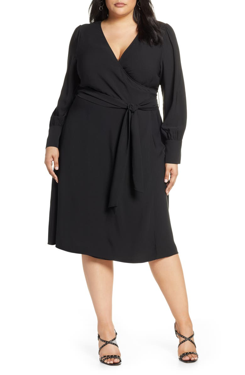HALOGEN<SUP>®</SUP> Wrap Dress, Main, color, 002
