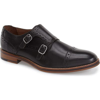 Johnston & Murphy Conard Double Monk Strap Slip-On, Black