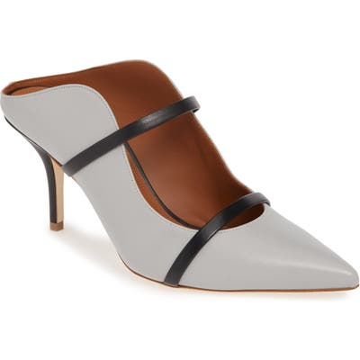 Malone Souliers Maureen Double Band Mule - Grey