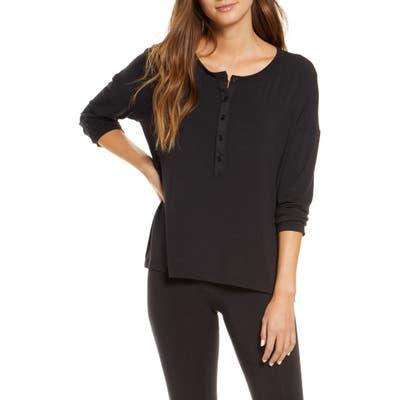 Maison Du Soir Courtney Madrid Pajama Top, Black