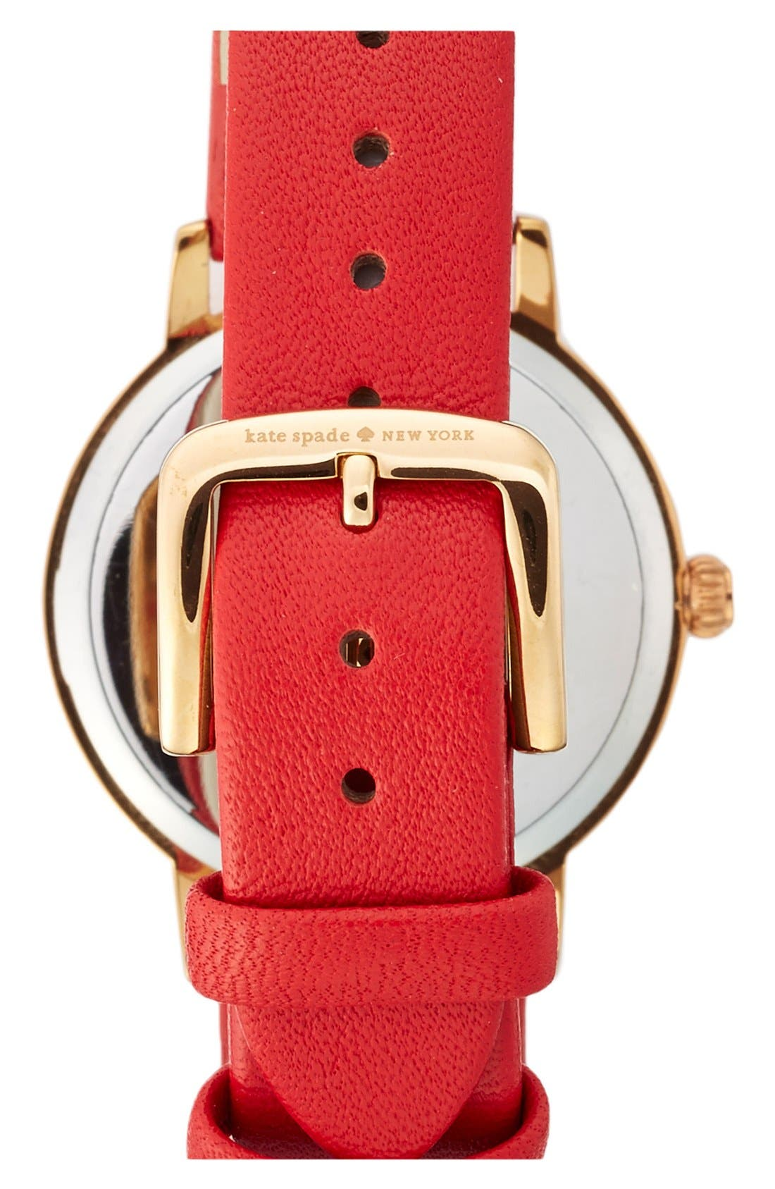 ,                             'metro - chalkboard' leather strap watch, 34mm,                             Alternate thumbnail 12, color,                             600