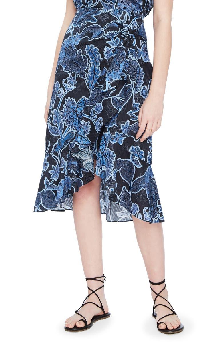 PARKER Drew Wrap Skirt, Main, color, MARINE SAFARI