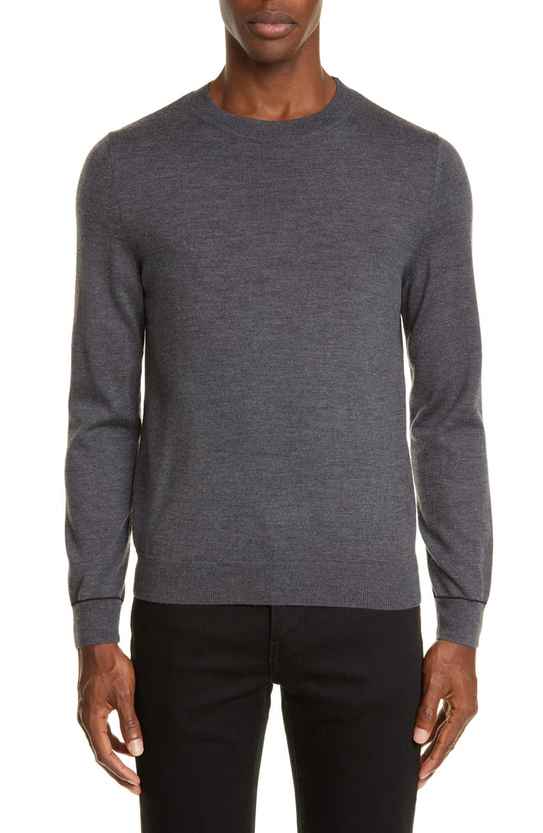 A.P.C. Alec Merino Wool Blend Sweater, Main, color, PLA GRIS CHINE