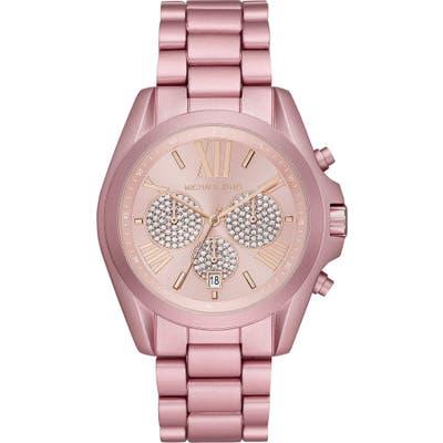 Michael Kors Bradshaw Crystal Pave Chronograph Bracelet Watch, 4m