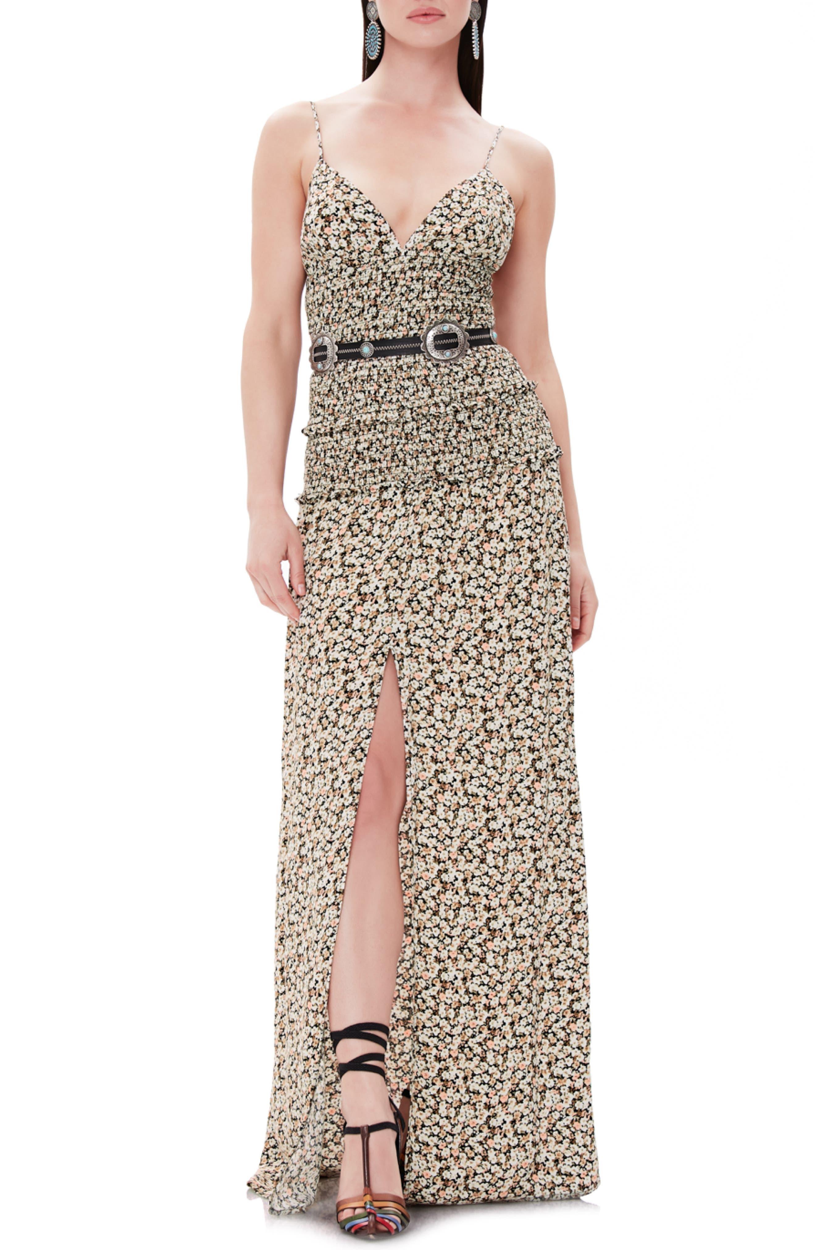 Afrm Shay Maxi Dress, Black