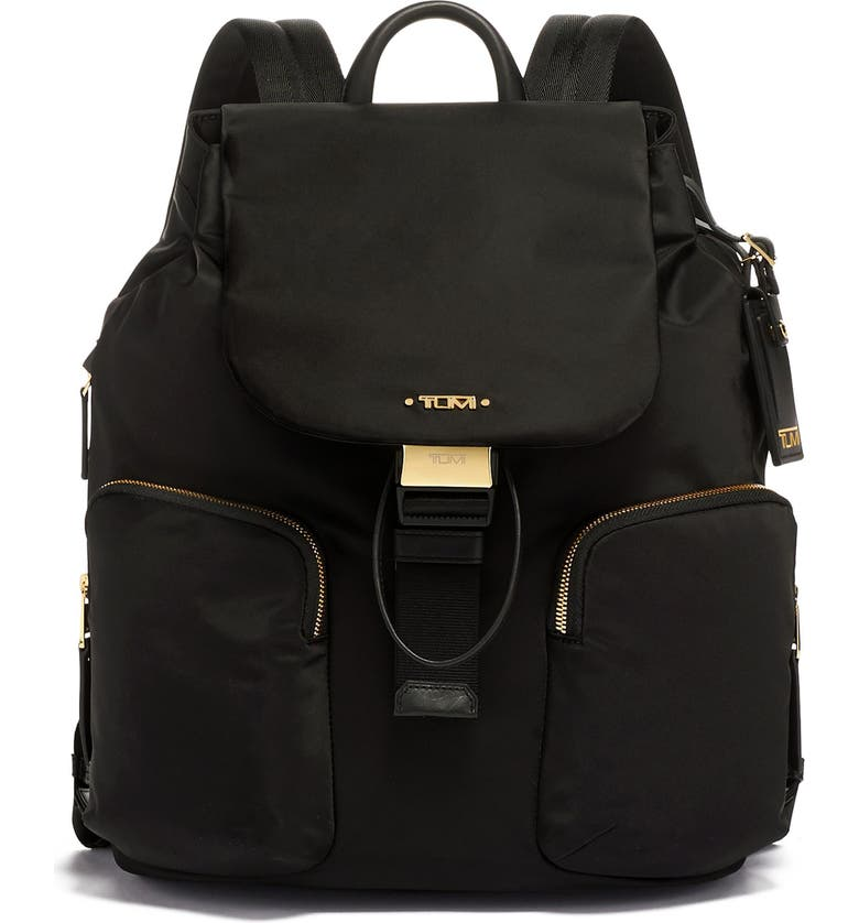 TUMI Rivas Nylon Backpack, Main, color, BLACK