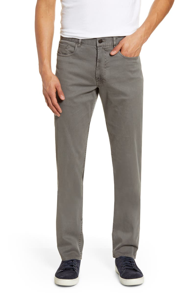 FAHERTY Comfort Twill Straight Leg Five-Pocket Pants, Main, color, RUGGED GREY