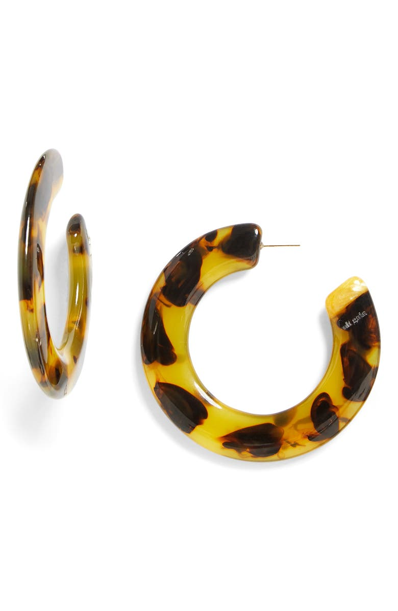 CULT GAIA Kennedy Hoop Earrings, Main, color, TORTOISE