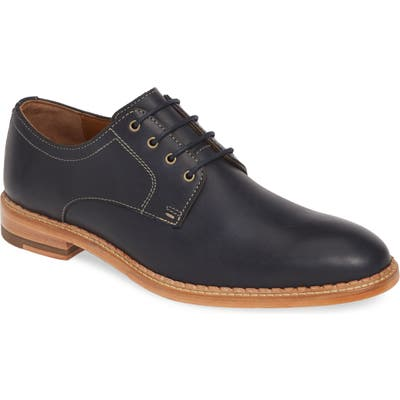 J & m 1850 Chambliss Plain Toe Derby, Blue