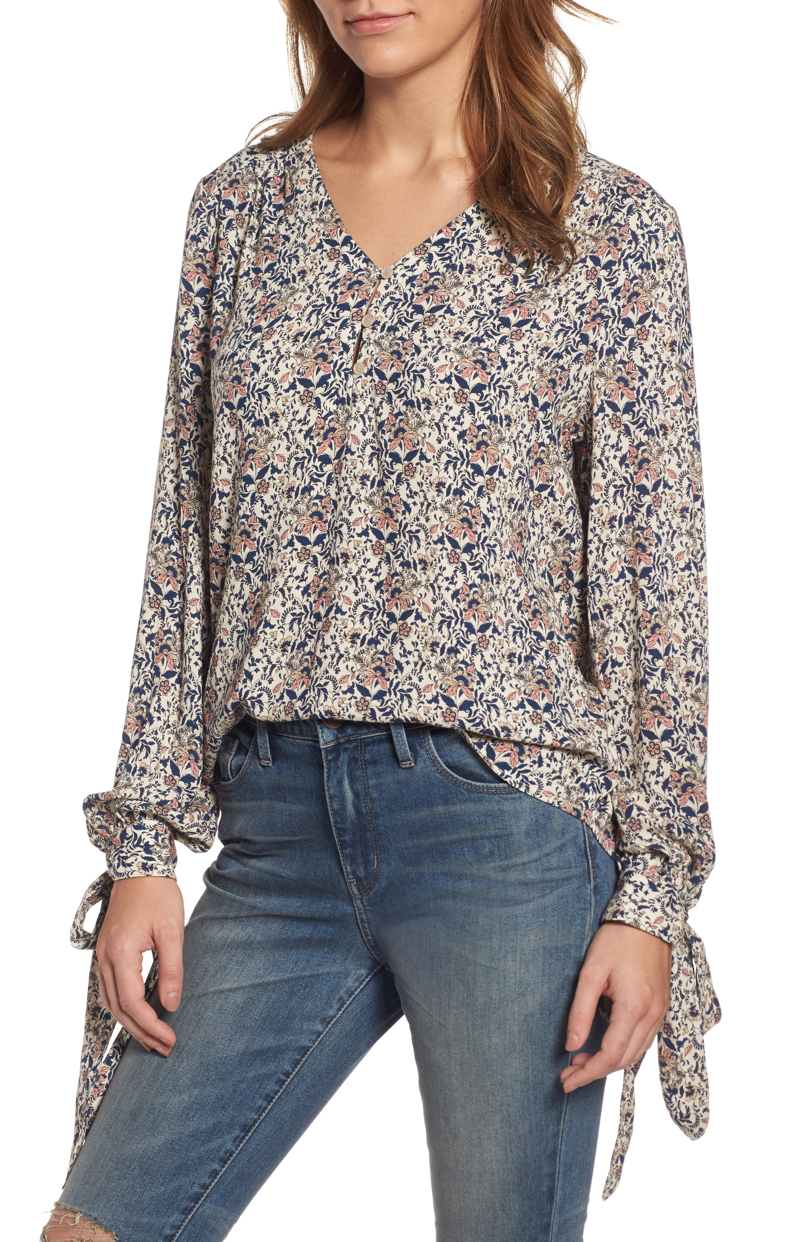 ,                             Tie Sleeve Top,                             Main thumbnail 8, color,                             250