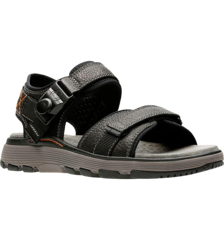 CLARKS<SUP>®</SUP> Originals Un Trek Part Sport Sandal, Main, color, 003