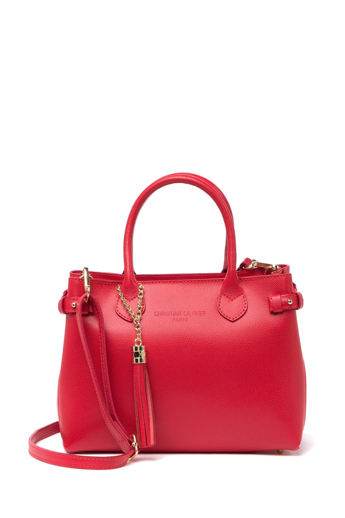 Image of CHRISTIAN LAURIER Jana Leather Satchel