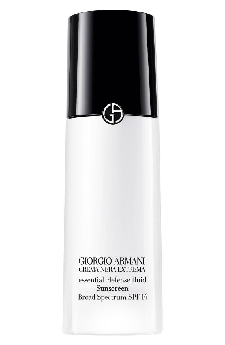 GIORGIO ARMANI Crema Nera Extrema Essential Defense Fluid Sunscreen SPF 14, Main, color, 000