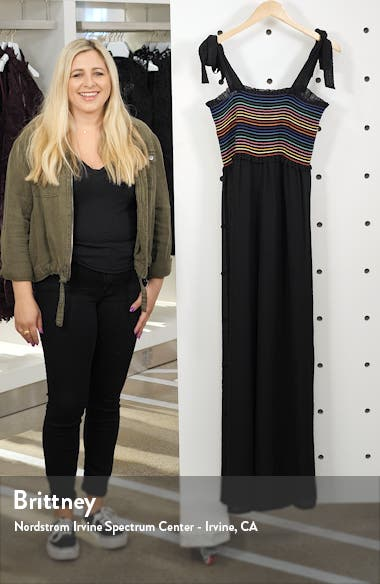Dana Smocked Cover-Up Jumpsuit, sales video thumbnail