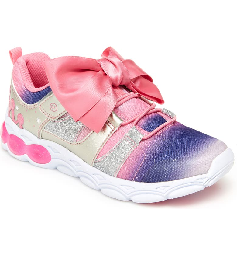 STRIDE RITE Katie Glitter Light-Up Sneaker, Main, color, PINK