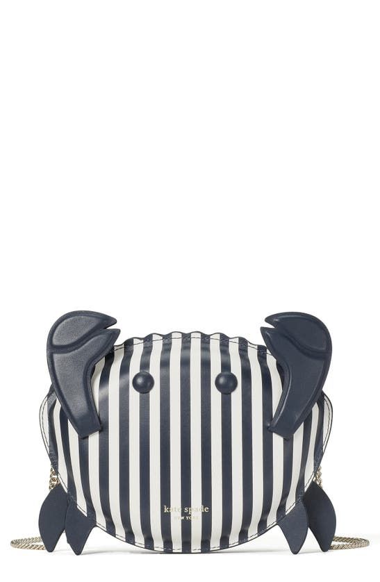 Kate Spade Leathers SHELLY CRAB STRIPE LEATHER CROSSBODY BAG