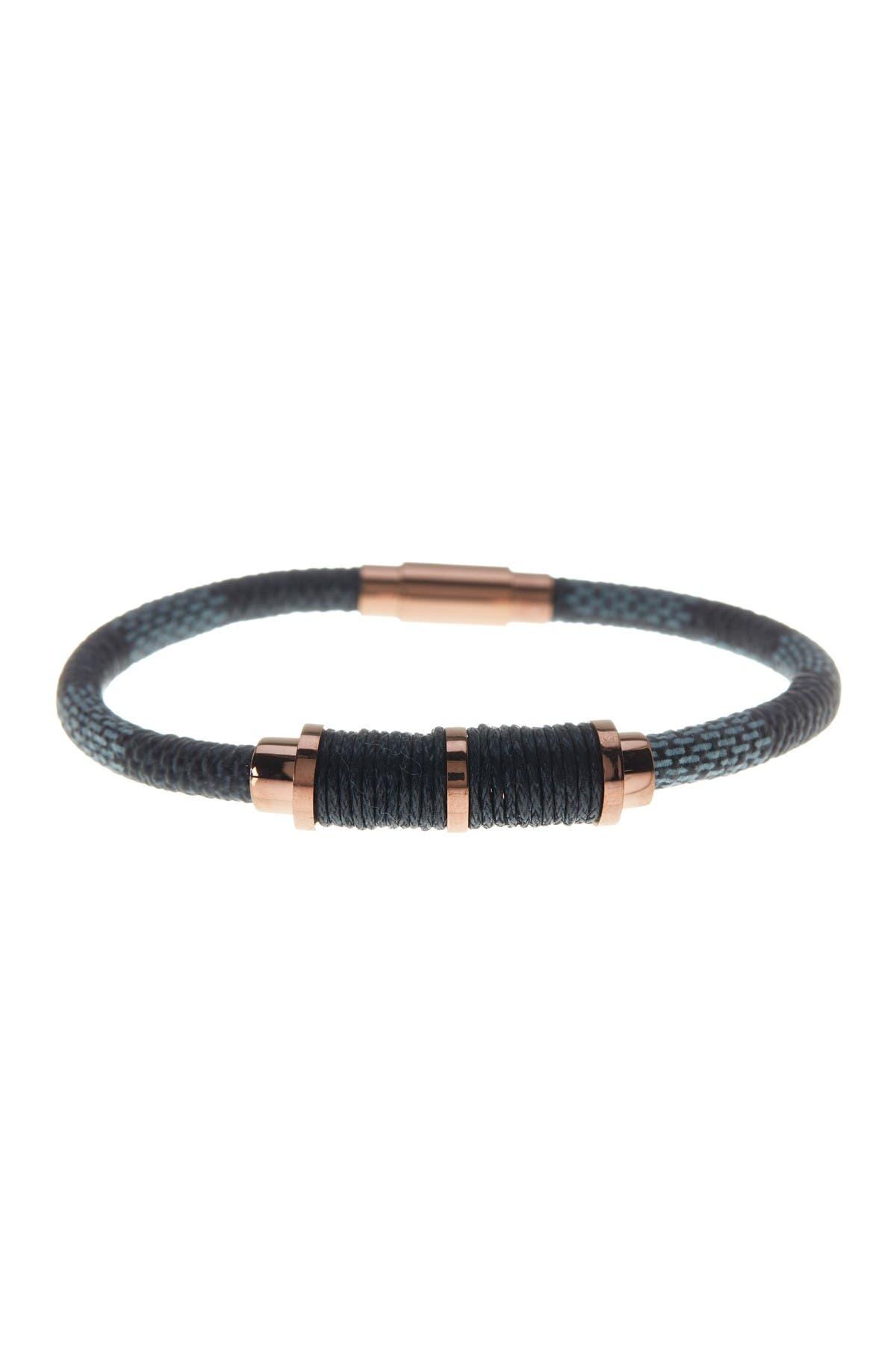 Image of Steve Madden Colorblocked Leather Bracelet