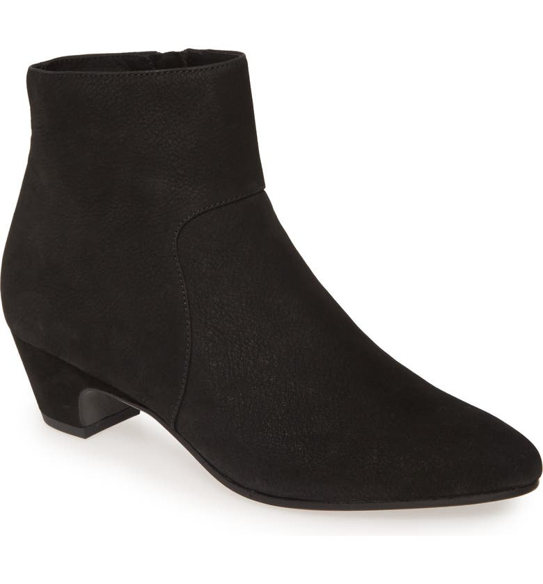EILEEN FISHER Prim Bootie, Main, color, BLACK NUBUCK LEATHER