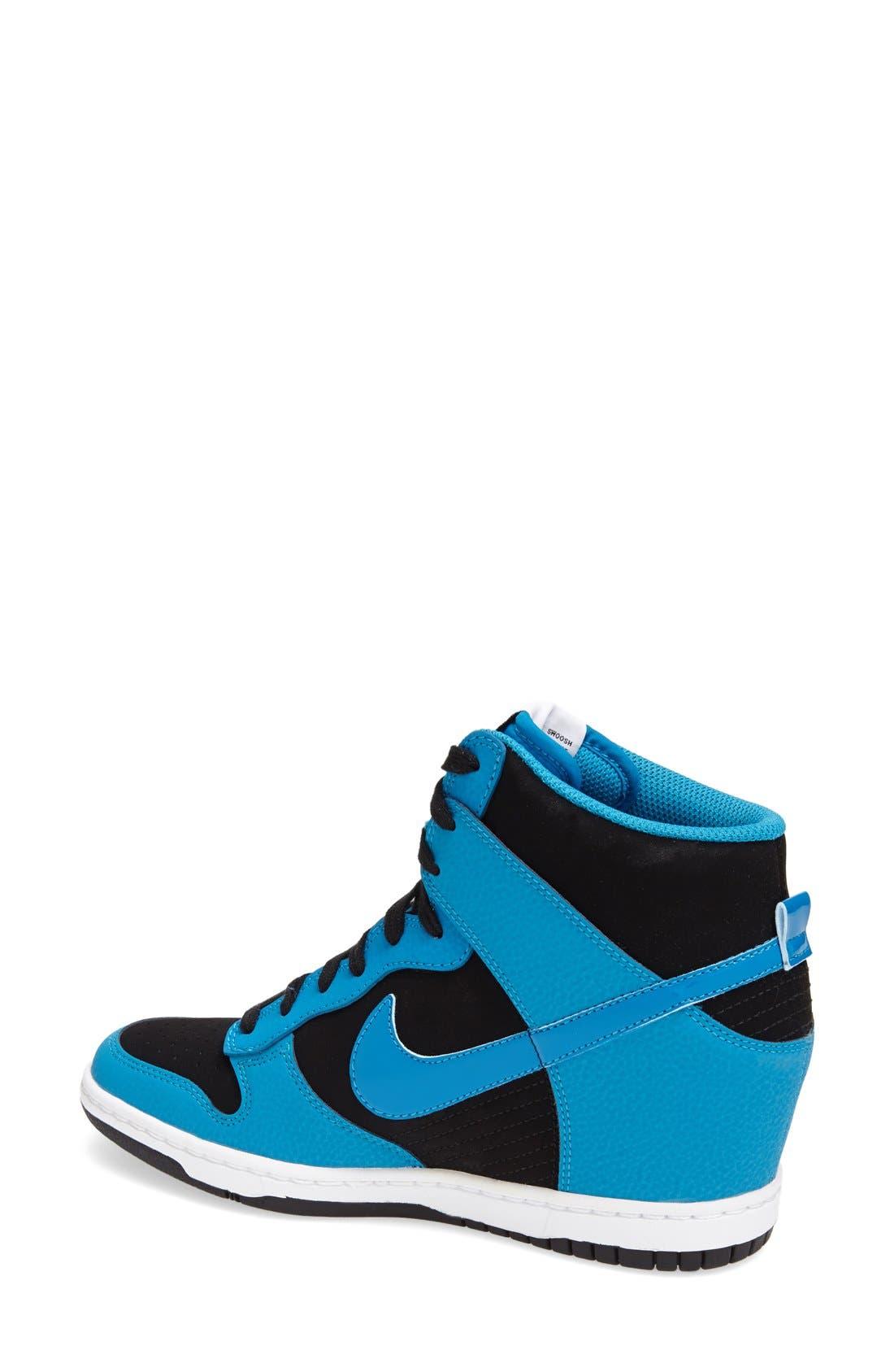 ,                             'Dunk Sky Hi - Essential' Wedge Sneaker,                             Alternate thumbnail 17, color,                             009