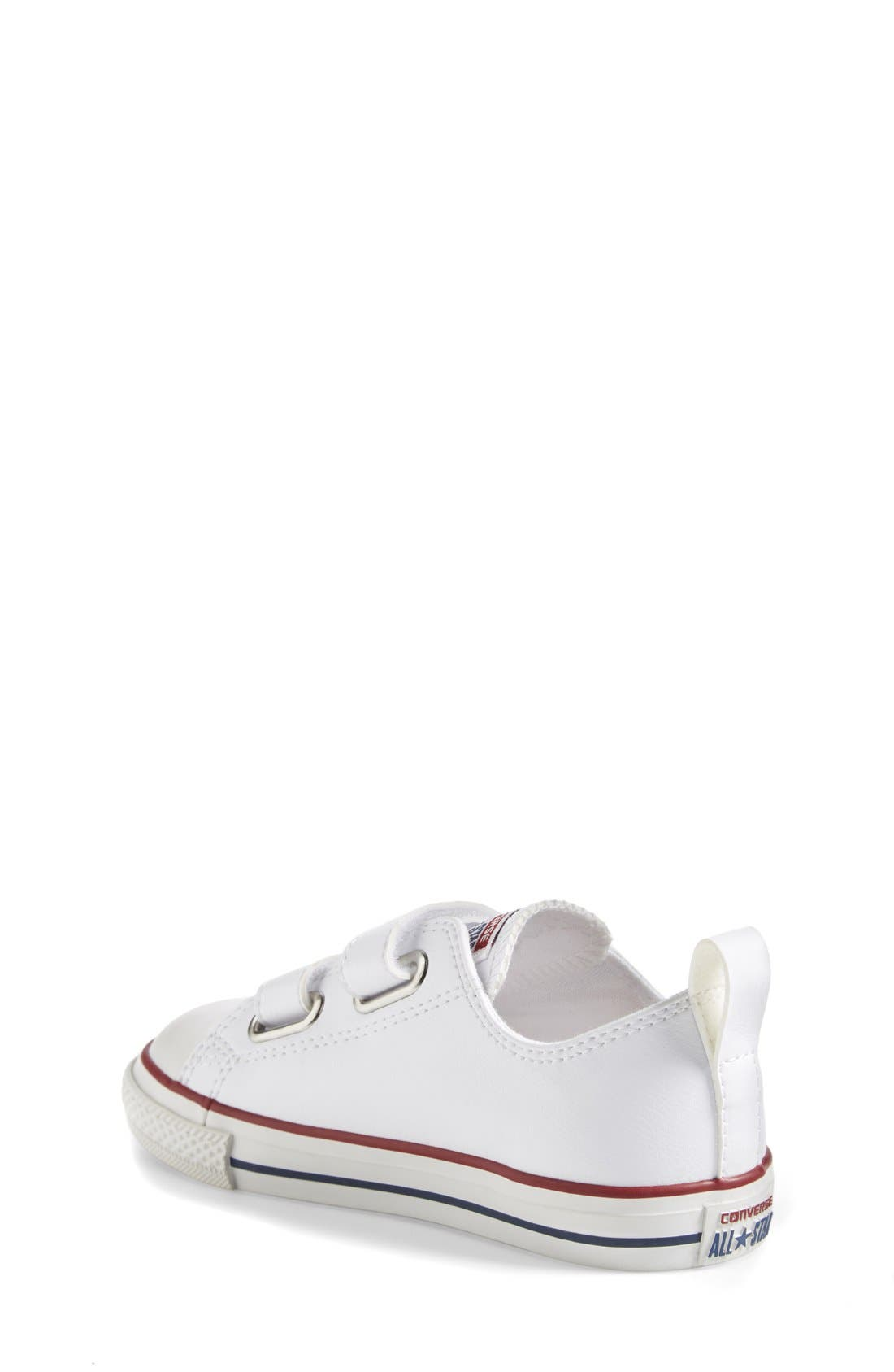 ,                             Chuck Taylor<sup>®</sup> All Star<sup>®</sup> 2V Faux Leather Sneaker,                             Alternate thumbnail 2, color,                             WHITE