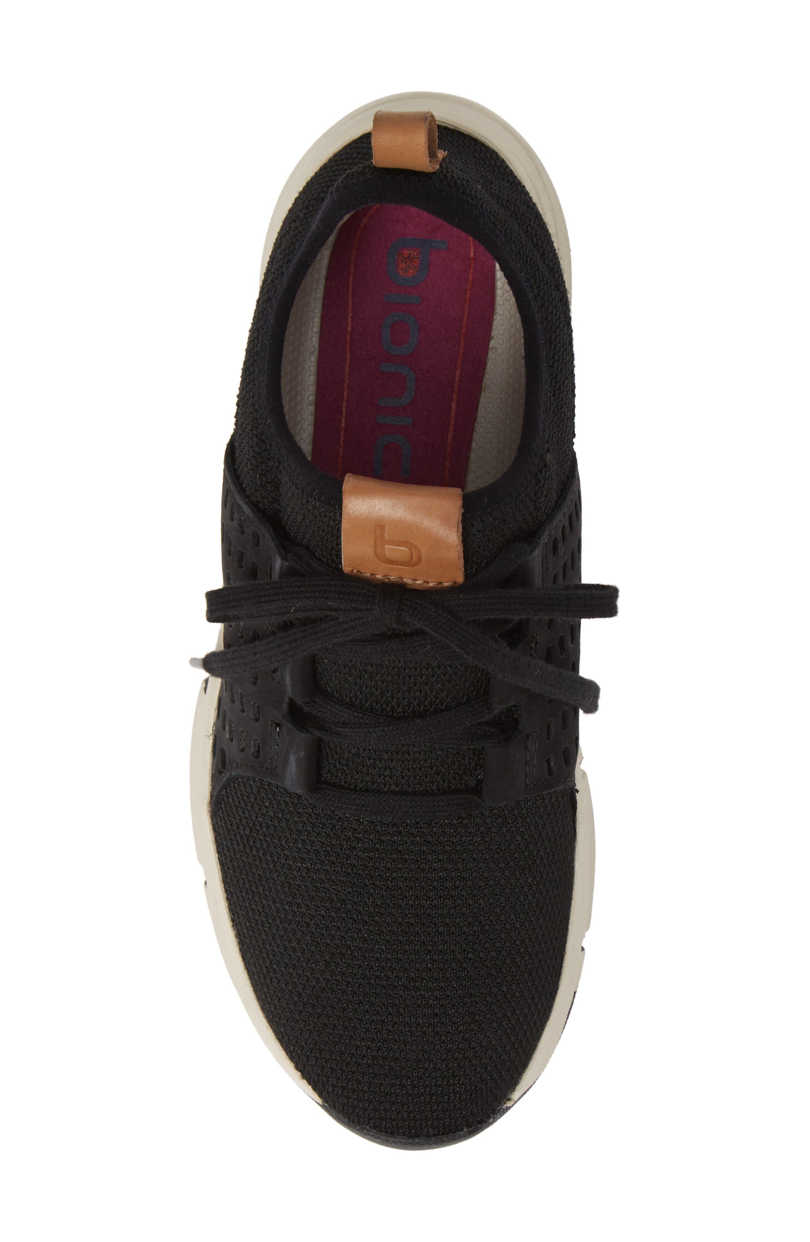 ,                             Orsola Sneaker,                             Alternate thumbnail 5, color,                             BLACK NUBUCK LEATHER