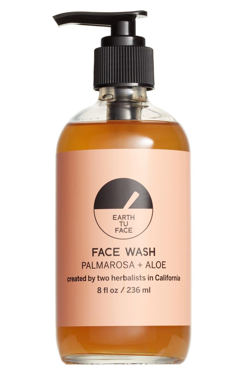 EARTH TU FACE Palmarosa + Aloe Face Wash, Main, color, 000