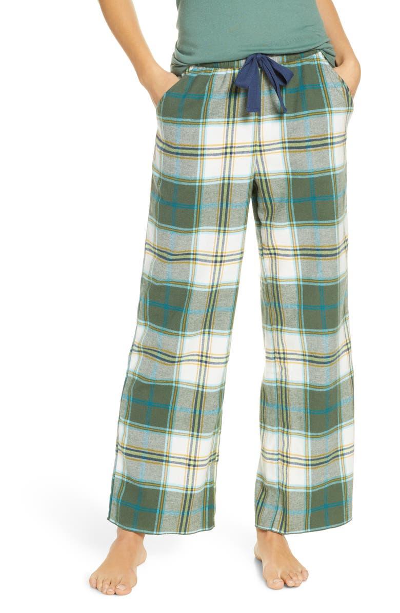 BP. Flannel Pants, Main, color, GREEN DUCK ELLIS PLAID