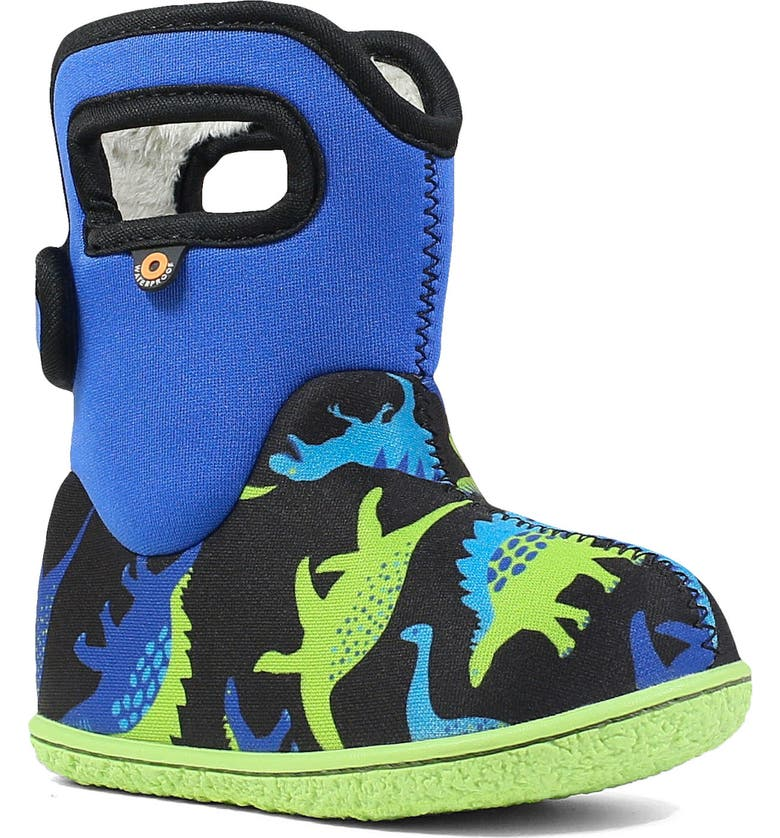 BOGS Baby Bogs Dino Insulated Waterproof Boot, Main, color, ELECTRIC BLUE MULTI