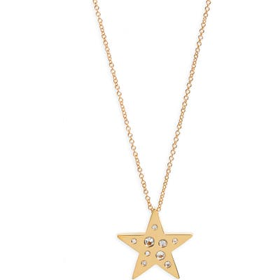 Ef Collection Diamond Speckle Star Pendant Necklace