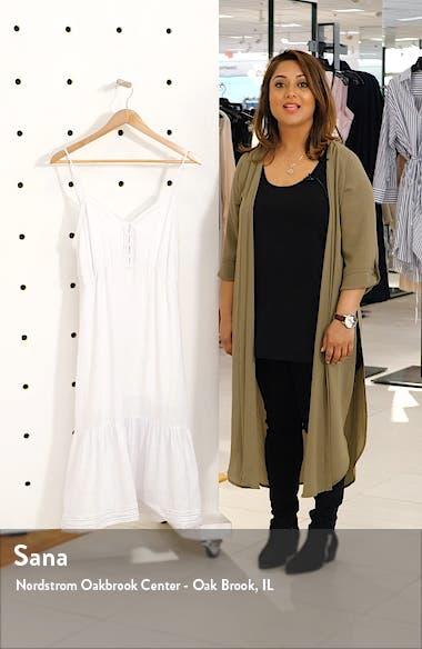 Delilah Openwork Linen Blend Midi Dress, sales video thumbnail