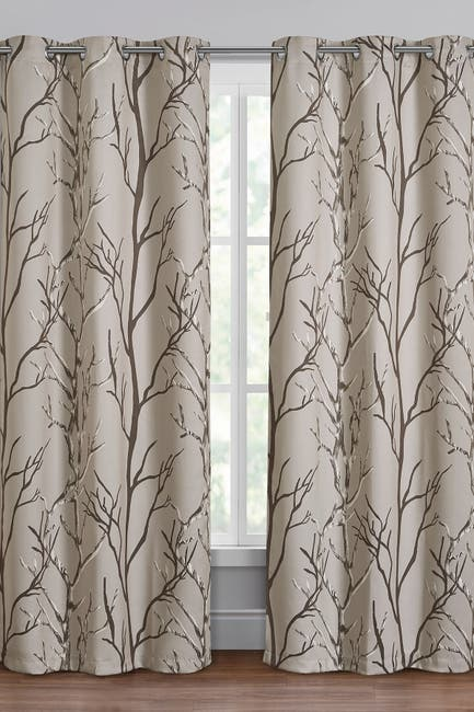 Image of VCNY HOME Kingdom Branch Blackout Curtain Panel - Brown