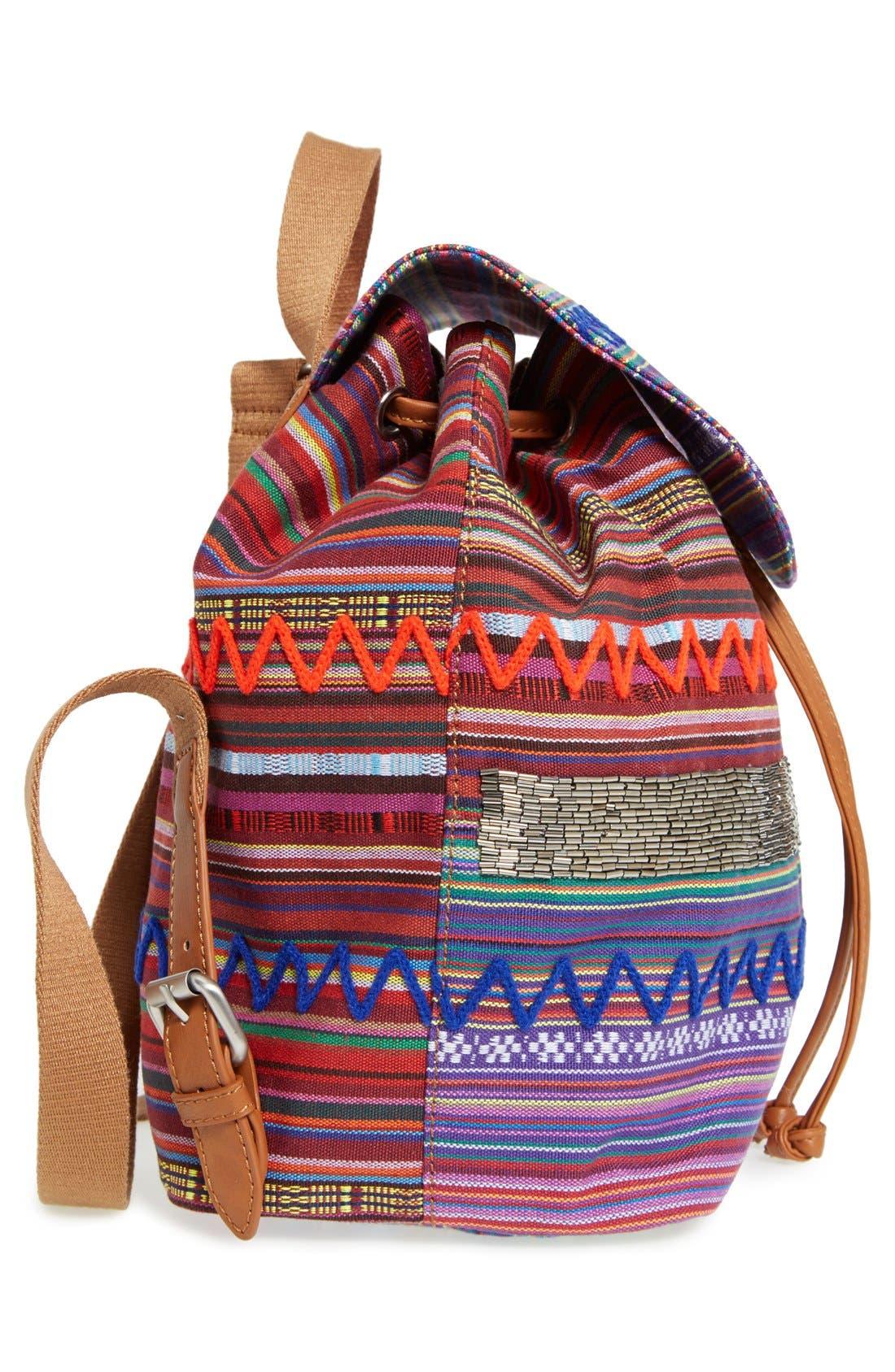,                             'Bella' Woven Backpack,                             Alternate thumbnail 10, color,                             650