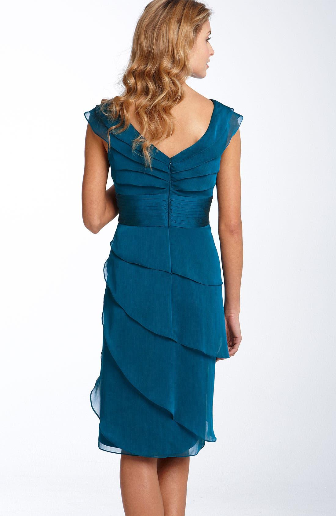 ,                             Tiered Chiffon Dress,                             Alternate thumbnail 8, color,                             400