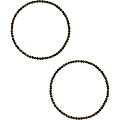 Ettika Large Crystal Hoop Earrings