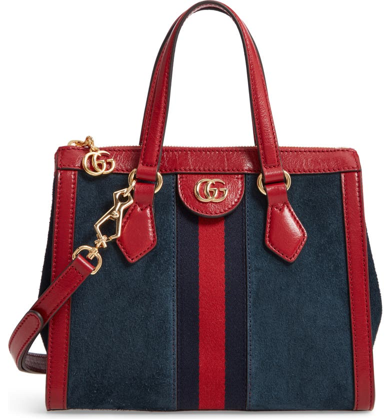 GUCCI Ophidia Small Suede & Leather Convertible Tote Bag, Main, color, 400