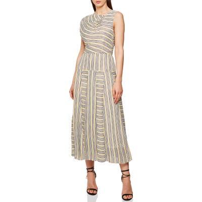 Reiss Raya Multi Stripe Dress, US / 8 UK - Yellow