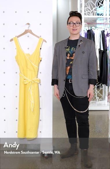 Contrast Trim Belted Linen Blend Sundress, sales video thumbnail