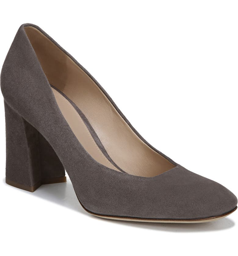 VIA SPIGA Beatrice Leather Pump, Main, color, THUNDER SUEDE