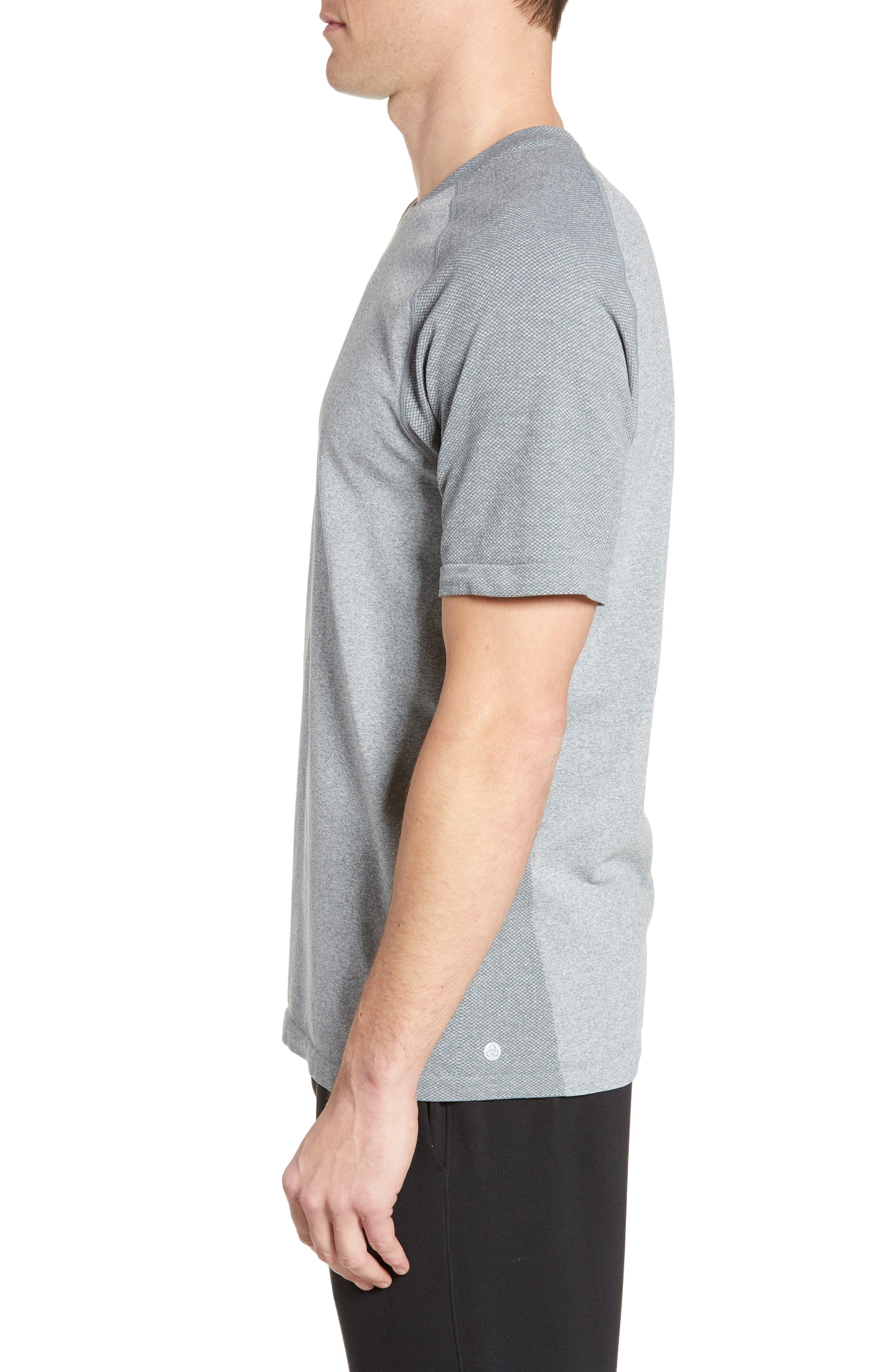 ,                             Seamless Raglan T-Shirt,                             Alternate thumbnail 4, color,                             GREY MONUMENT MELANGE
