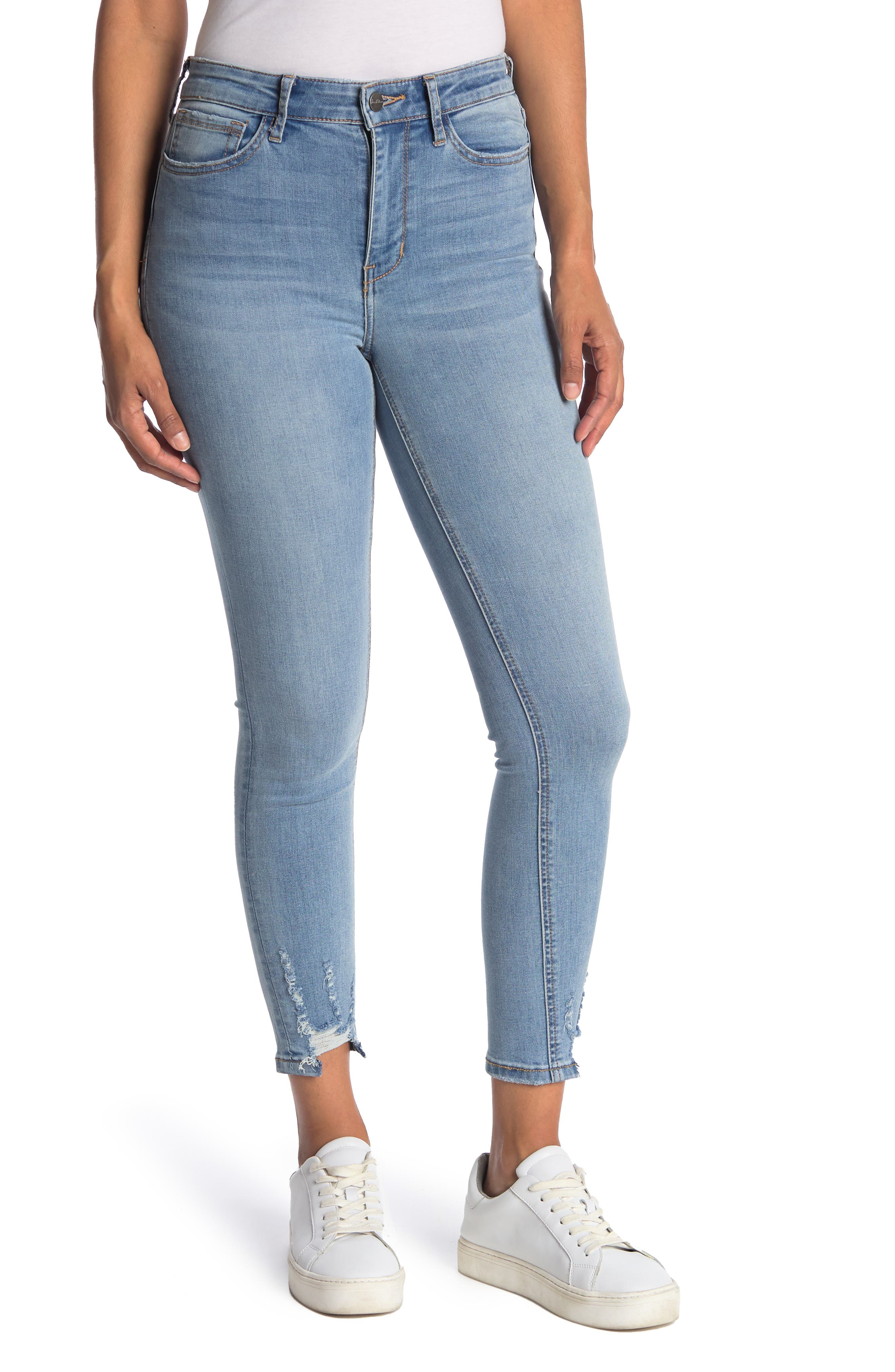 Image of Sam Edelman Kitten Distressed Ankle Skinny Jeans