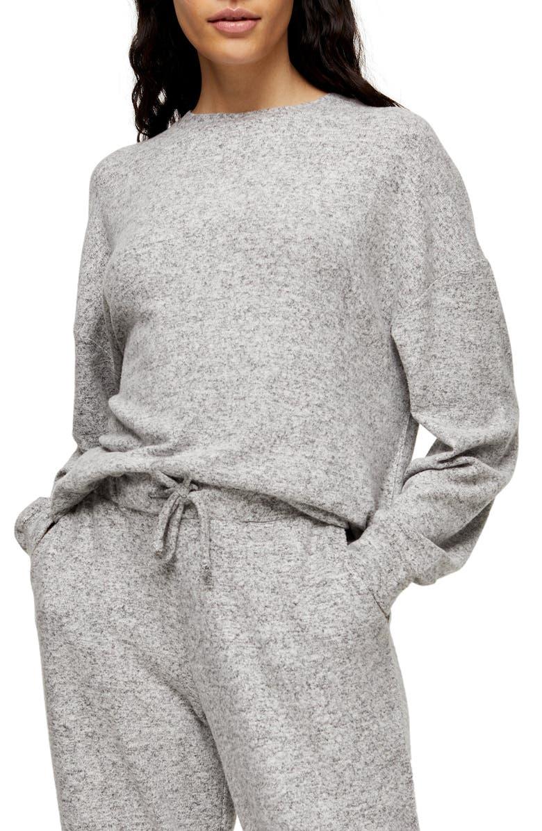 TOPSHOP Supersoft Sweatshirt, Main, color, 020