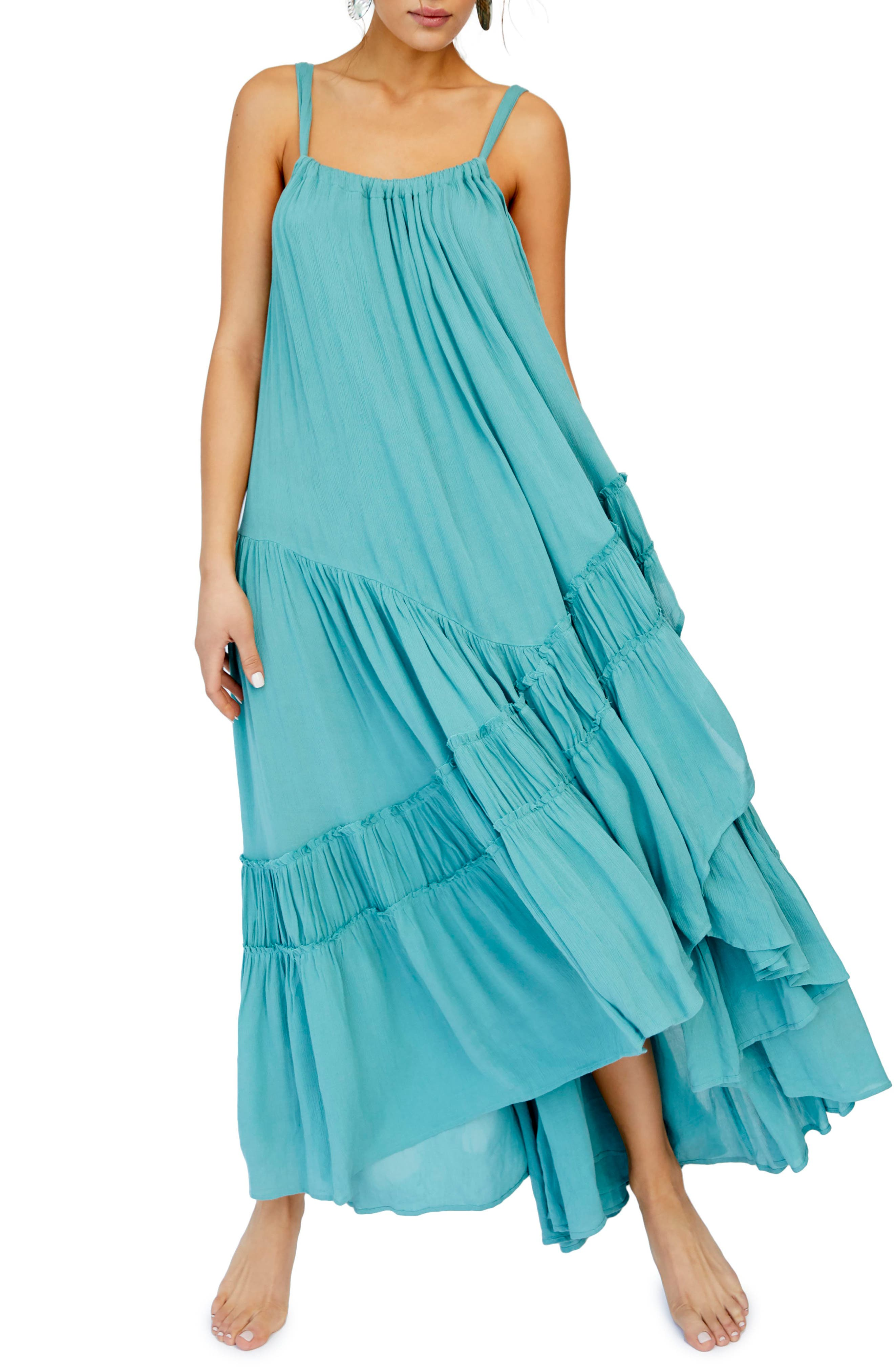 Endless Summer by Free People Bare It All Maxi Dress, Main, color, BLUE