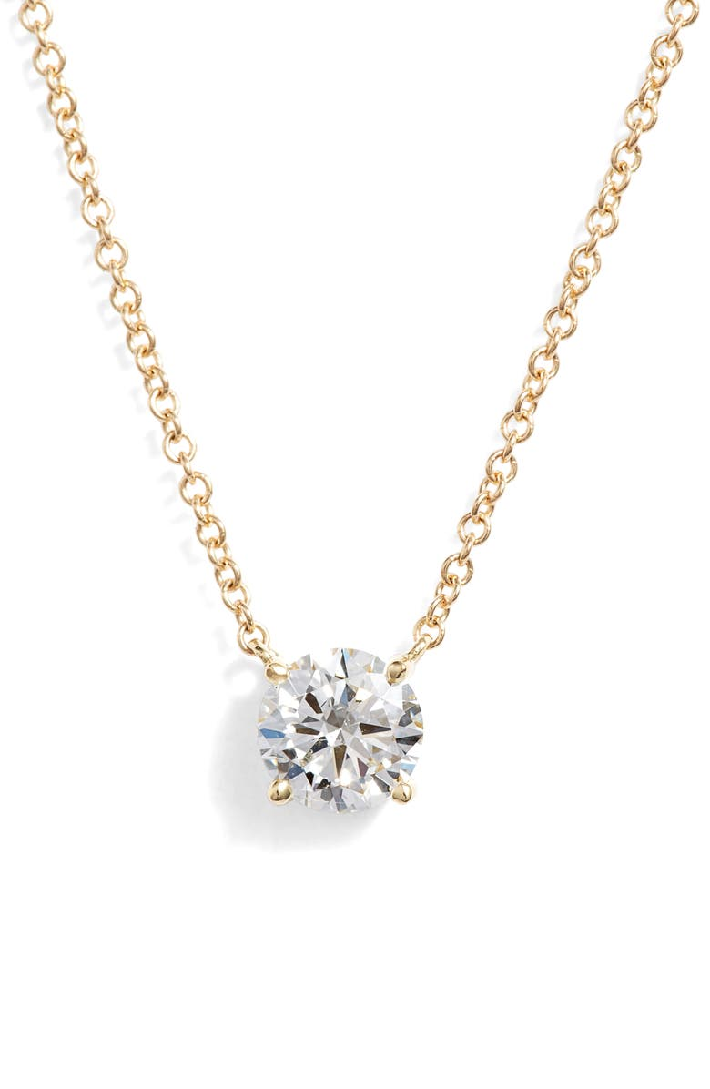 BONY LEVY Liora Large Solitaire Diamond Pendant, Main, color, YELLOW GOLD