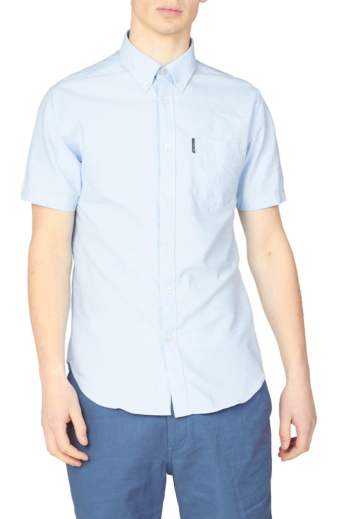 Signature Short Sleeve Oxford Button-Down Shirt