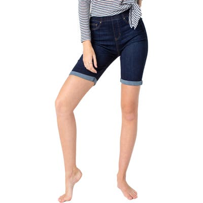 Liverpool Chloe Pull-On Bermuda Shorts, Blue