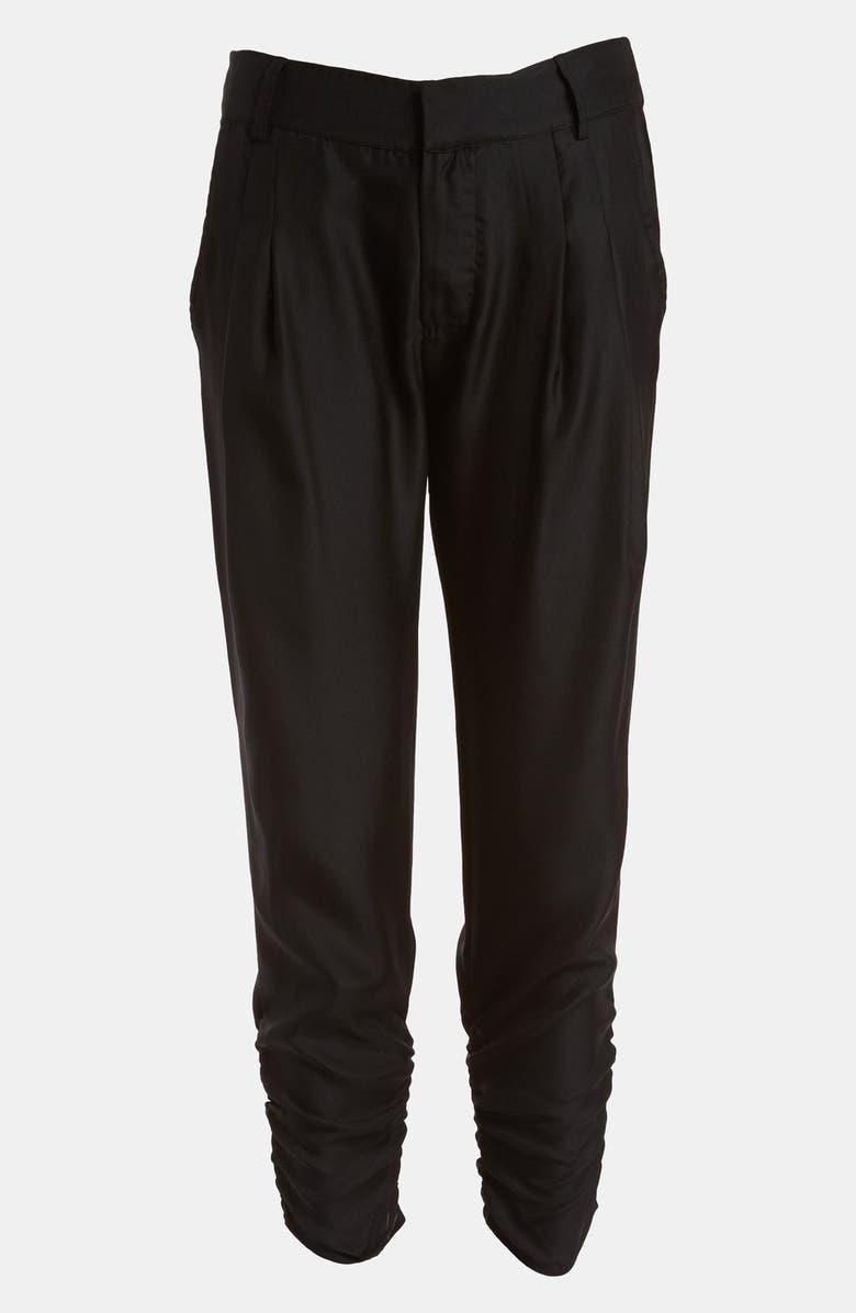 DEVLIN Pleated High Waist Pants, Main, color, 001