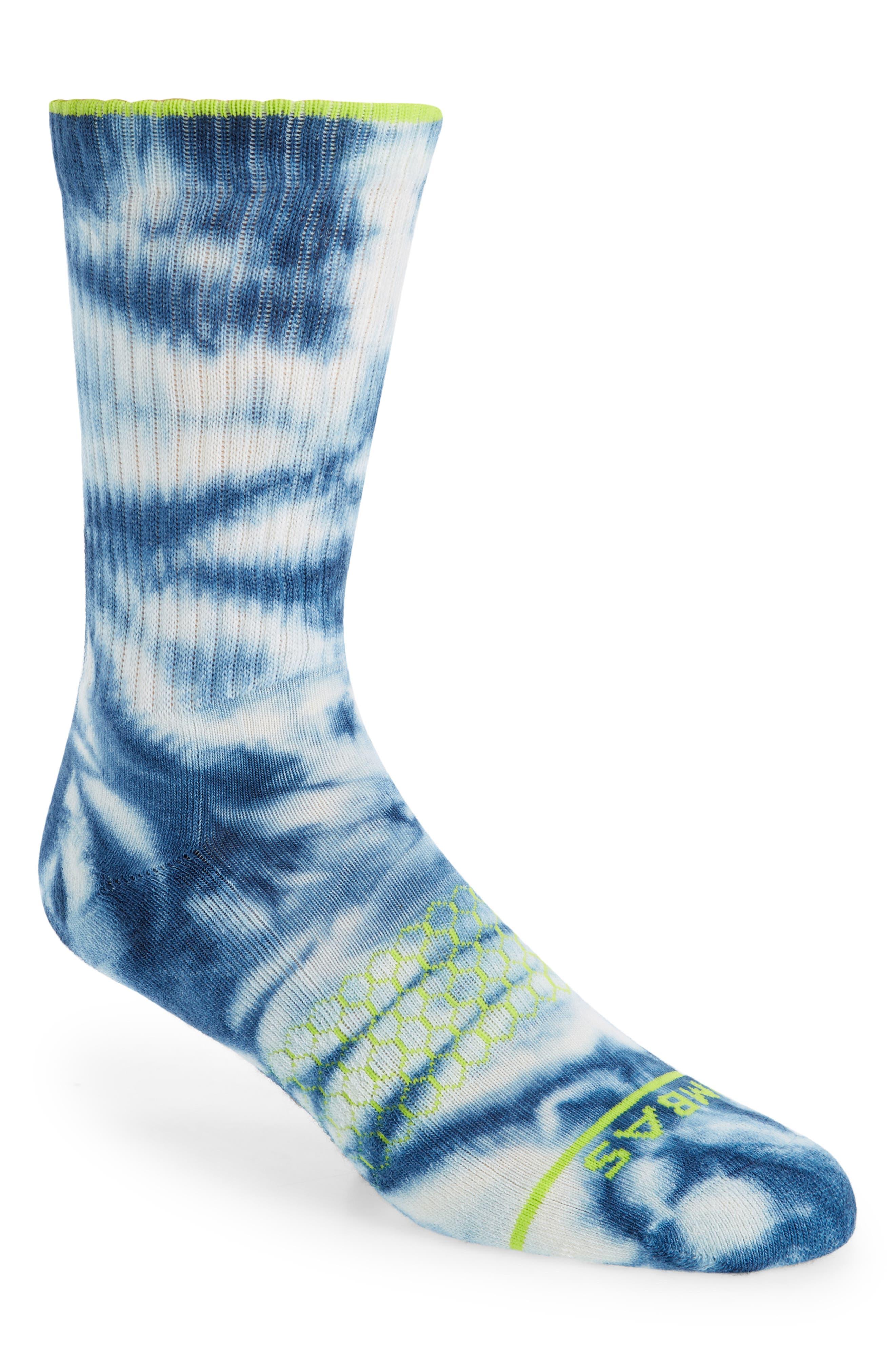 Tie Dye Merino Blend Crew Socks