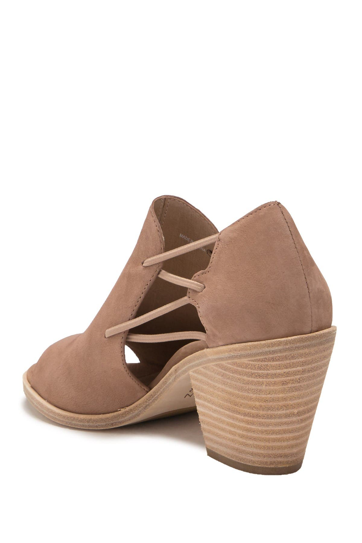 Nikki Peep Toe Block Heel Sandal