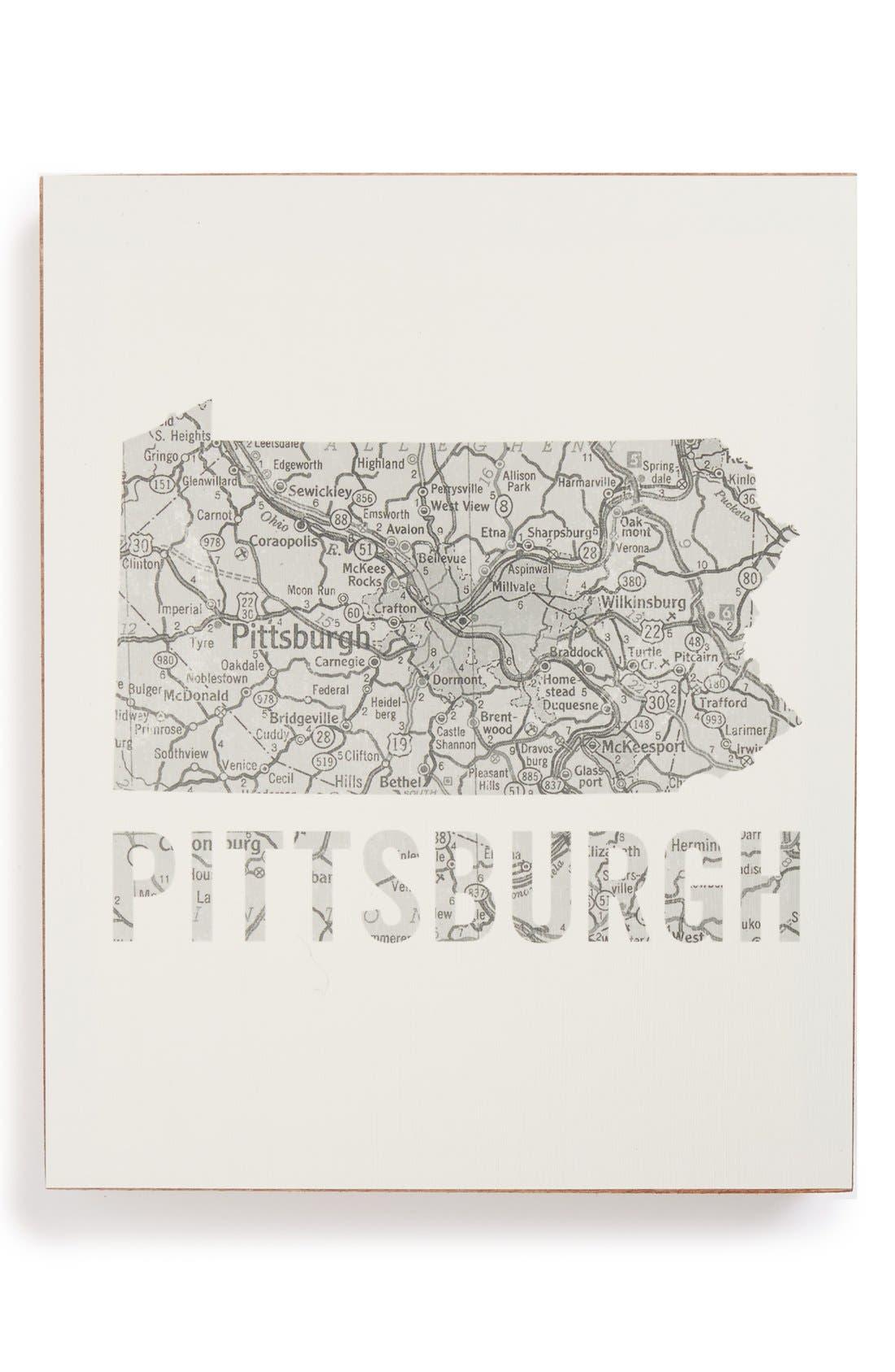 ,                             City Map Wall Art,                             Main thumbnail 28, color,                             045