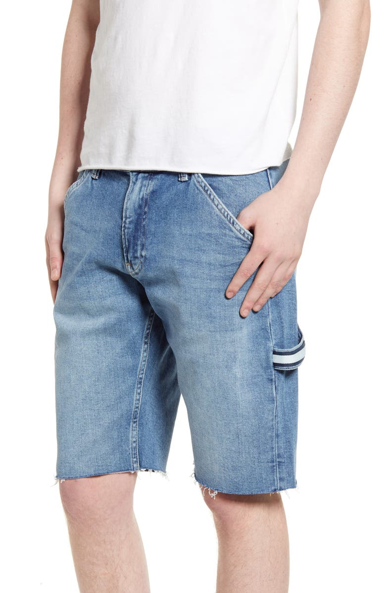 TOMMY JEANS Carpenter Jean Shorts, Main, color, FINSBURY MID BLUE